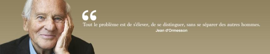 Citation de Jean d'Ormesson